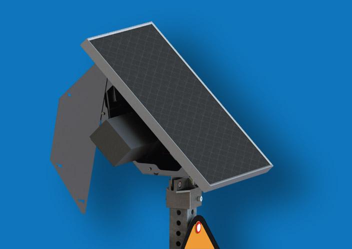 Solar Panel for LED Enhanced Traffic Sign